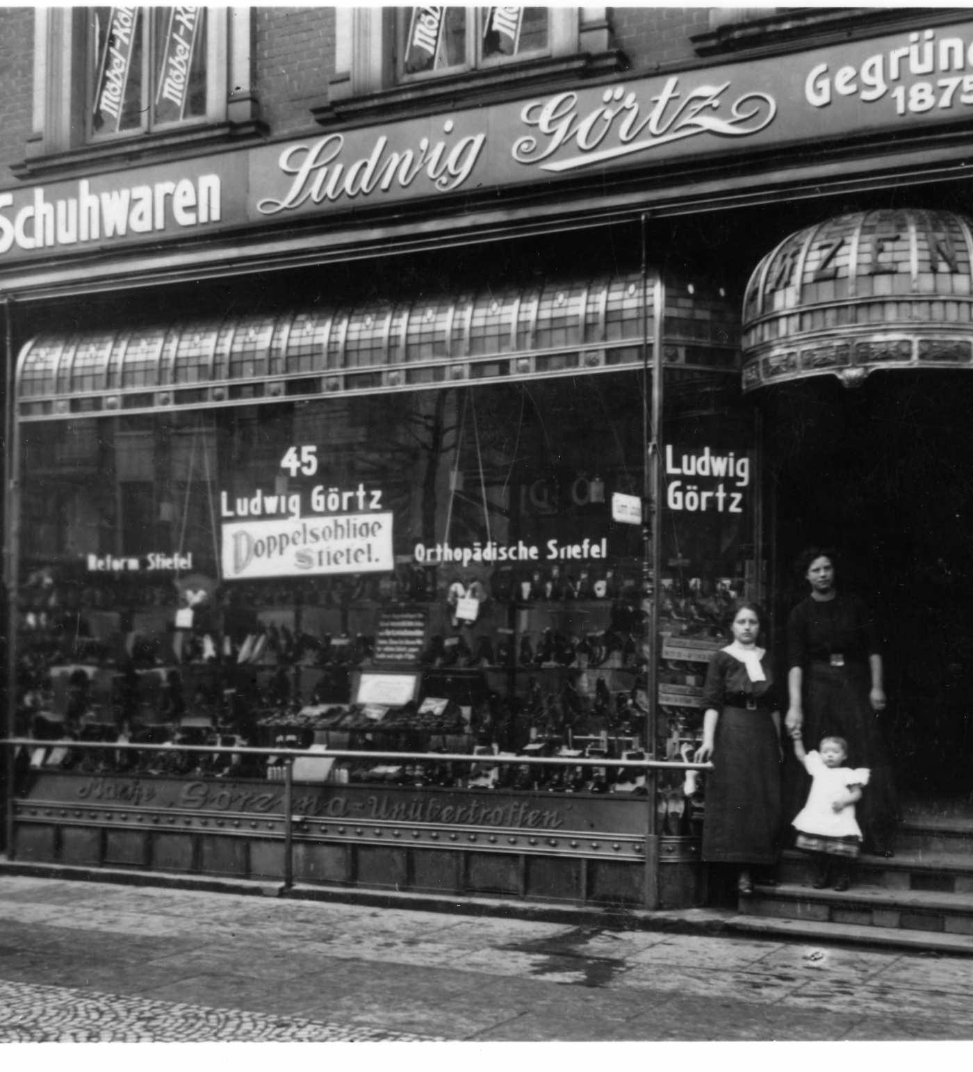 Erstes Görtz Geschäft um 1900