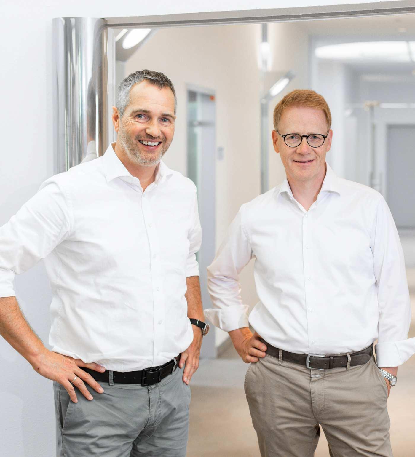 Geschäftsführer Frank Revermann und Stephan Tendam