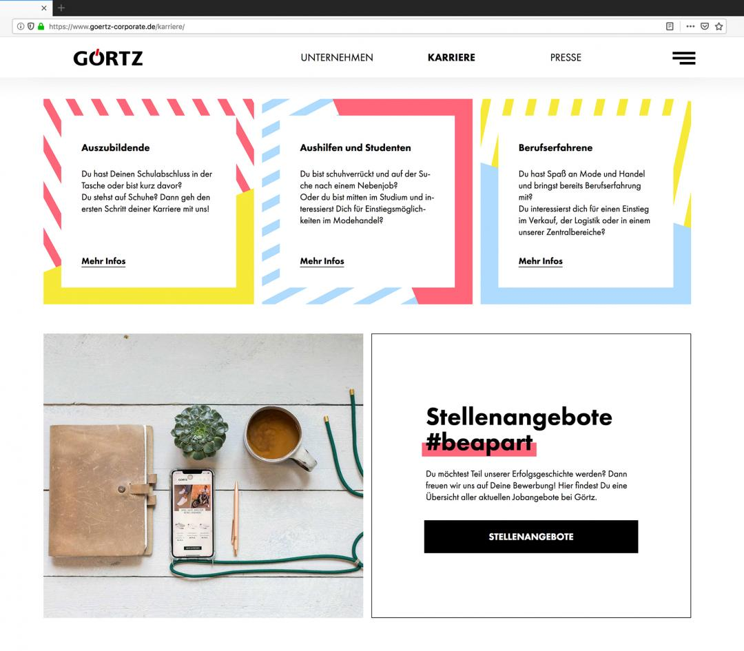 "Relaunch der Görtz Corporate <em class=""clr-yellow"">Website</em>"